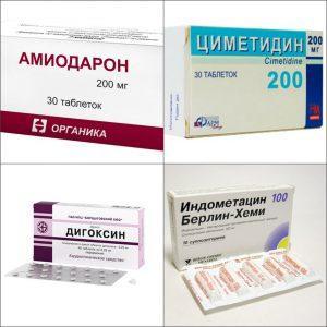 Взаимодействие Амлодипина с другими препаратами