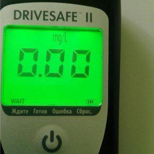 Дисплей алкотестера Drivesafe 2