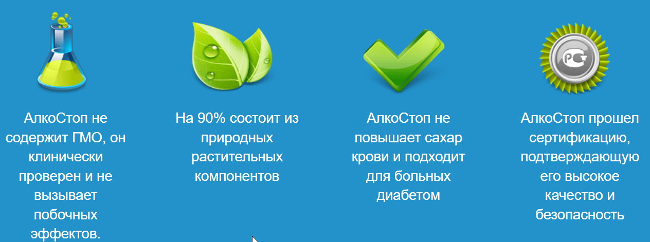 Действия АлкоСтоп