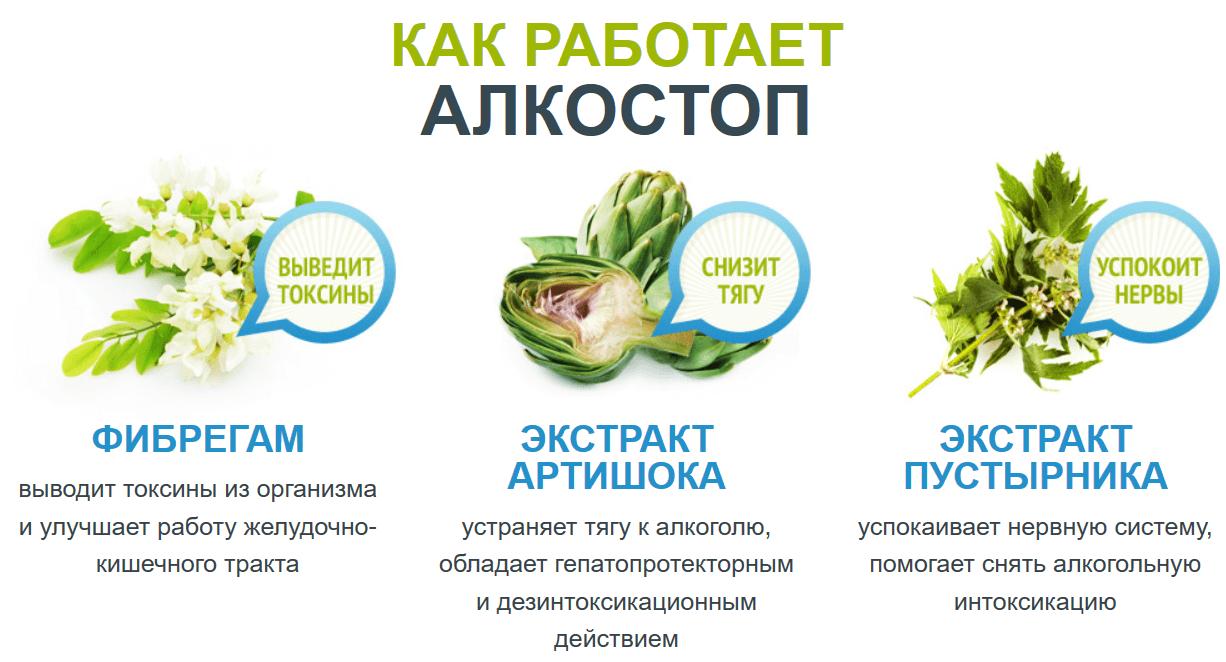 Состав АлкоСтоп