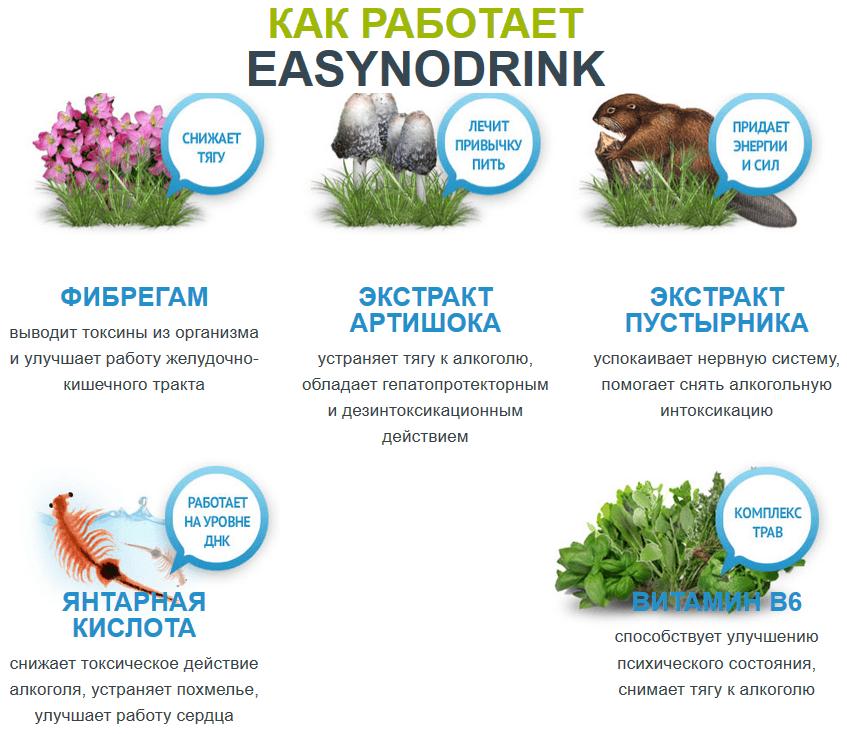 Состав EASYnoDRINK
