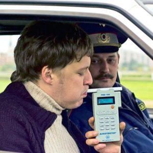 Освидетельствование водителя инспектором ГИБДД