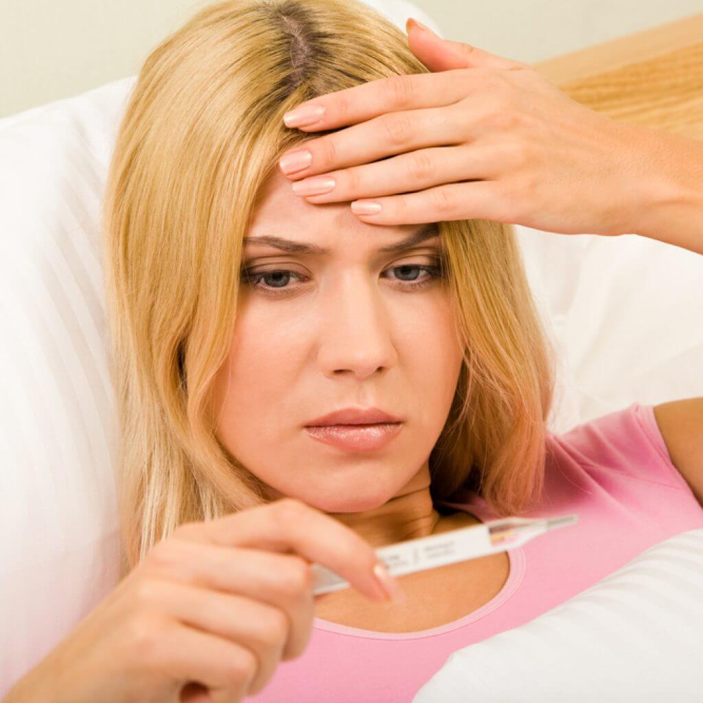 Как беременной сбить температуру 54